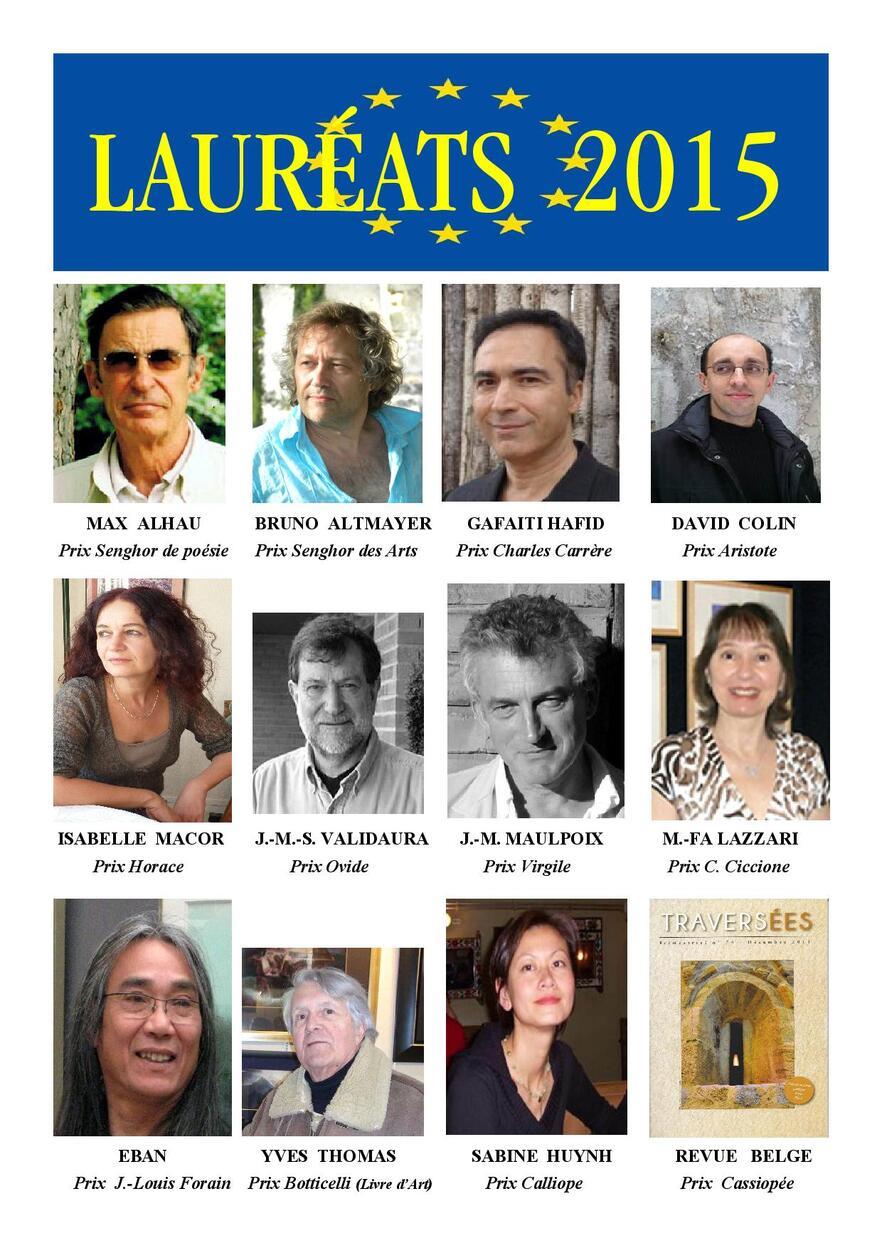 Lauréats 2015 (portraits)