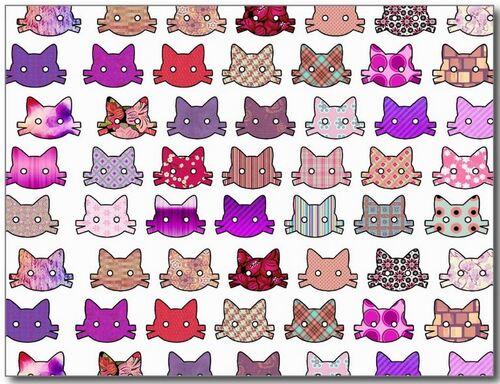 Motifs chats (2)