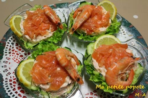 Coquilles aux 2 saumons
