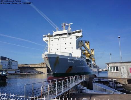 Saint Nazaire départ du navire REGINE