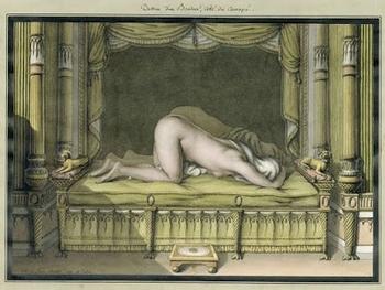 jean-jacques lequeu, dessin d'un boudoir