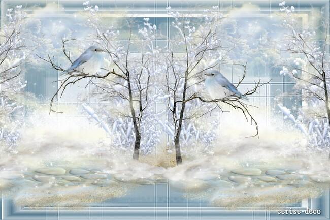 design hiver blanc