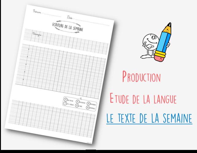 Etude la langue à partir des productions des élèves : le texte de la semaine