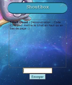 Déplacer le Shoutbox en haut ou en bas de page