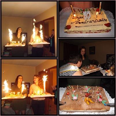 voila  j'ai fêter mes 50 bougies  avec mes amis (e) proche et les enfants