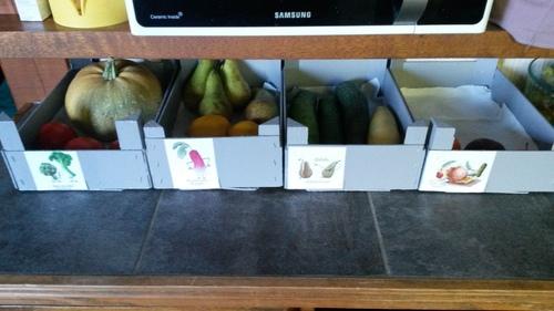 - Cagettes pour fruits et légumes