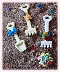 moules en silicone petite pelle et râteau - Arts et sculpture: sculpteur designer