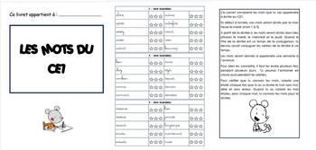Cahier des mots des dictées CE1