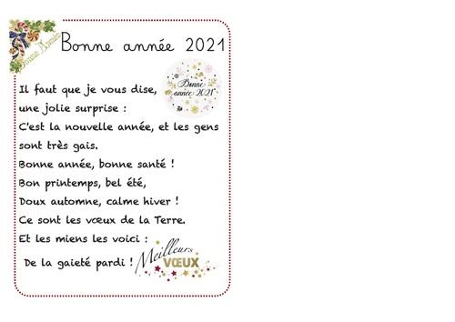 Poèmes pour la nouvelle année 2021