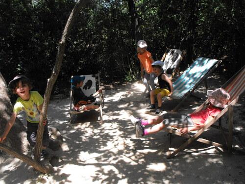 Sortie de fin d'année à St Remèze- La forêt des jeux