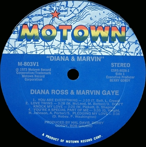 "Marvin Gaye & Diana Ross : Album "" Diana & Marvin "" LP Motown Records M-803V1 [ US ]"