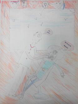 Illustrations du blues du dentiste