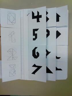 Mini-fiches individuelles de tangram