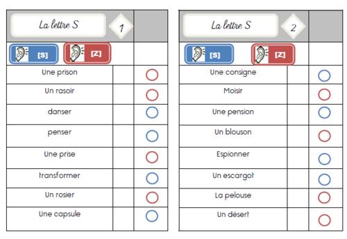 Cartes multi-choix : les valeurs de la lettre S