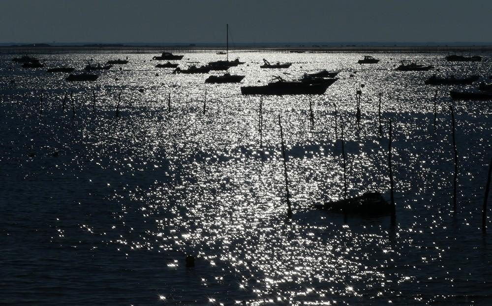 Un matin à 9h00 au bord du Bassin d'Arcachon...