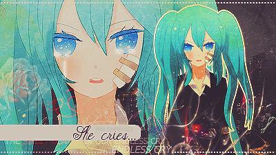 She cries...