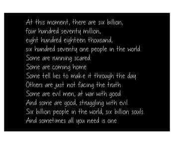 At this moment, there are 6 billion
