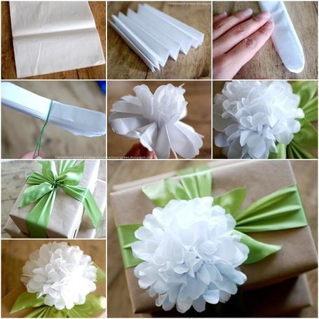 How to DIY Easy Tissue Paper Flower | www.FabArtDIY.com