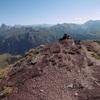 Repassage au sommet du pic de Gabedaille (2258 m), Ossau, Balaïtous et Collarada
