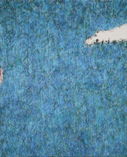 Paysage aux hortensias