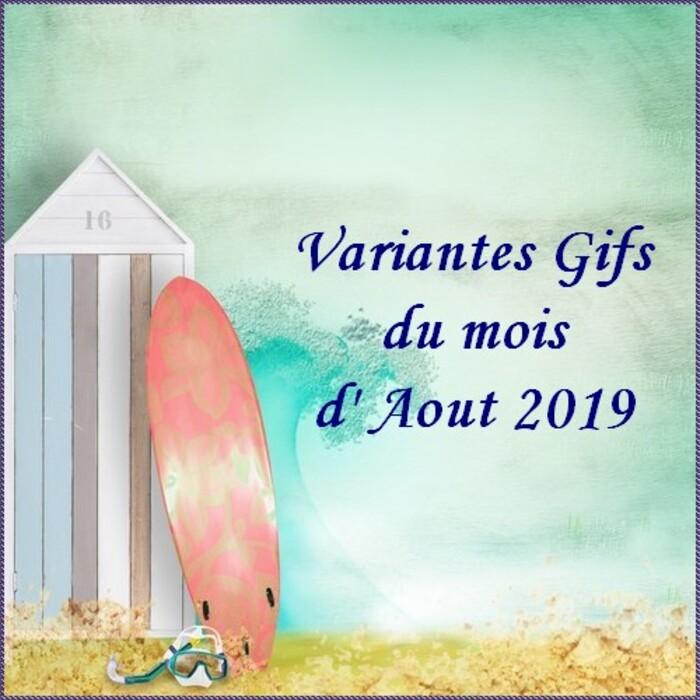 Variantes du mois d'Aout 2019