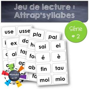 "Jeu de lecture-phonologie ""Attrap'syllabes"""