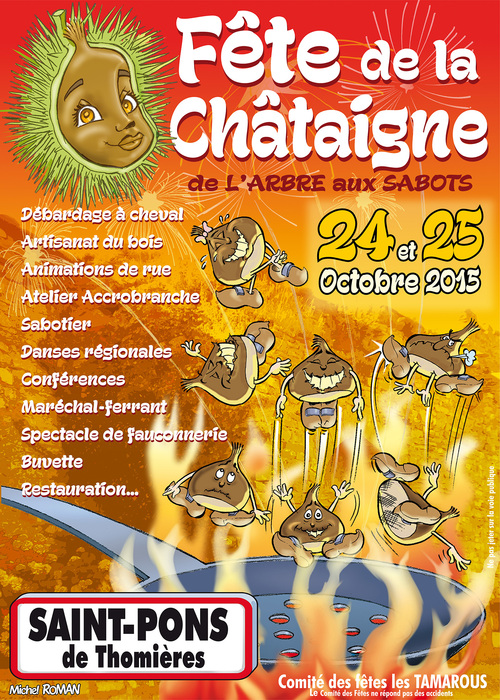Affiche fête de la Châtaigne 2015