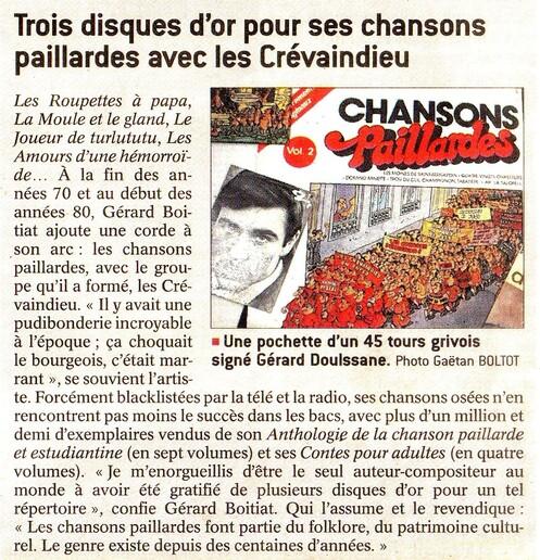 Gérard  Doulssane  :   Le  Bressan  aux  disques  d 'or