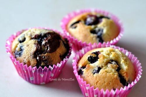 Recette des muffins aux myrtilles trop trop bons!