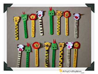 Ice cream Stick Animal Bookmarks