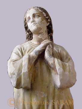 Restauration d'une statue en plâtre polychrome: avant peinture - Arts et sculpture: sculpteurs, artisans d'art