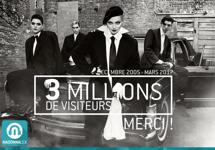 3 millions de visiteurs sur Madonnalex