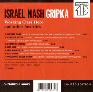 Joli choix pour un EP - Israel Nash Gripka ‎– Working Class Hero And Other Favorites (2011)