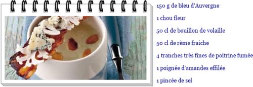 Crème de chou-fleur au bleu