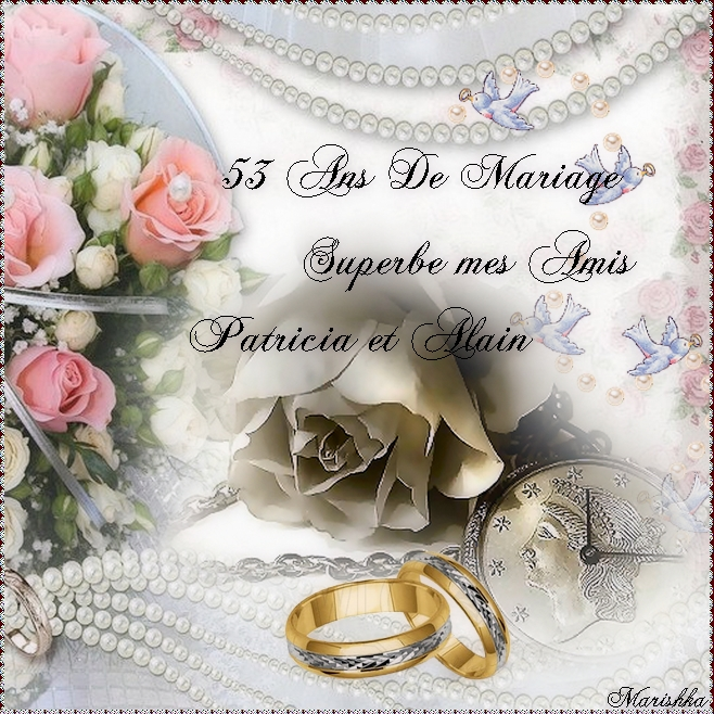 Joyeux Anniversaire de Mariage A mes Amis