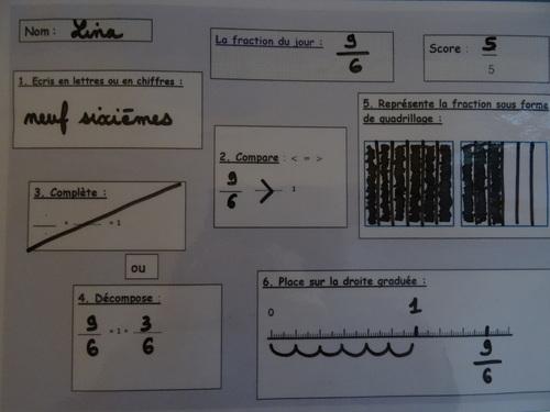 Ardoise fractions