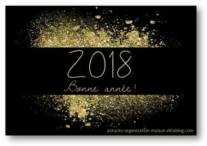 ✿ Bonne année 2018!