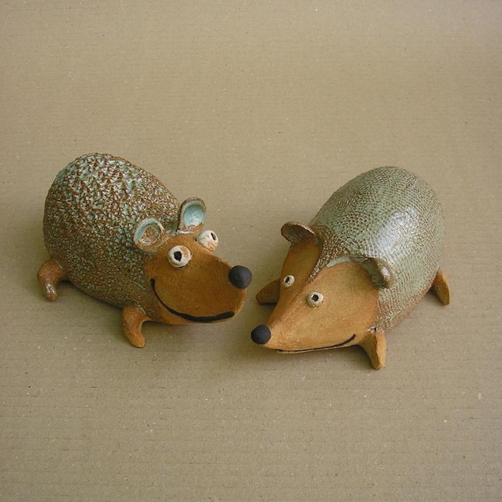 hérissons-céramique-Michel Cornut