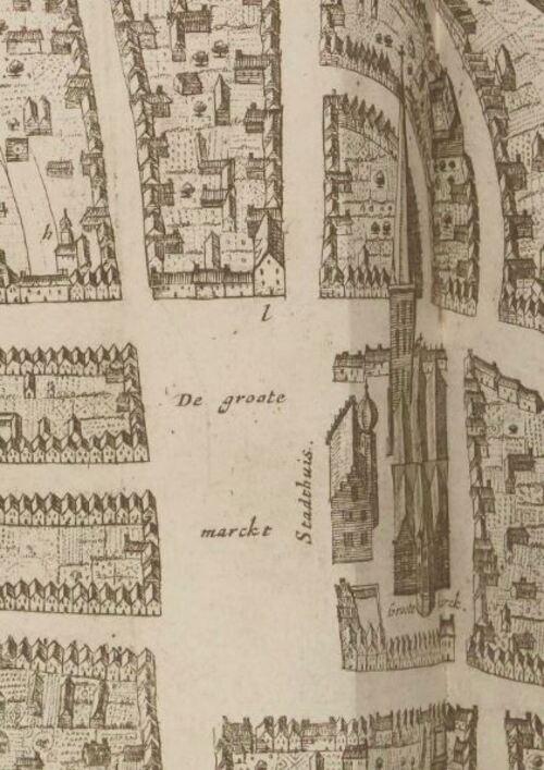 Dixmude, plan - Pieter Boudewyn Van Der Aa, La galerie agréable du monde, 1729 (gallica)