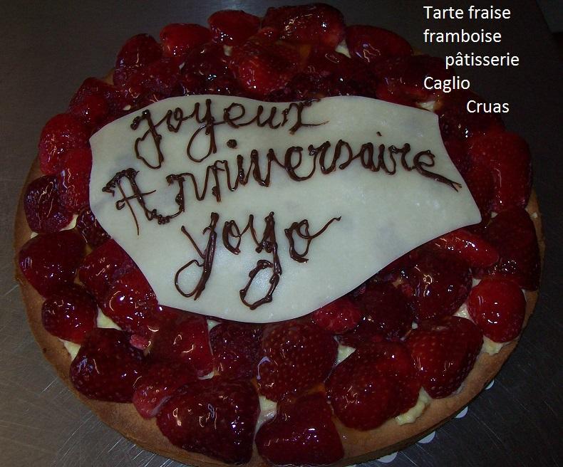 Tartes  fraise framboise anniversaire