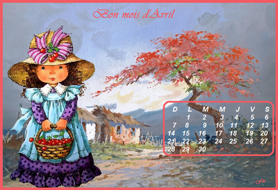 * Calendrier d'avril 2019 *