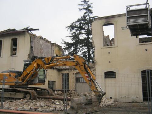 La démolition de l'ancienne gare