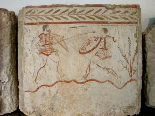 Paestum, tombe peinte d'époque lucanienne 3