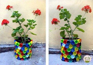 Idée Pinterest : réaliser des objets en 3D avec des bouchons de bouteille.