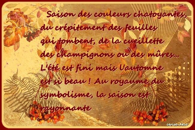 citation illustrée : les couleurs de l'automne