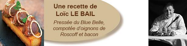 Pressée de Blue Belle, compotée d'oigons de Roscoff et bacon