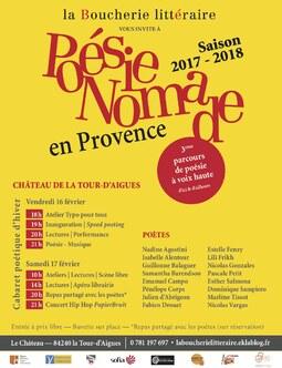 Programme du 3ème Cabaret poétique d'hiver de la Boucherie littéraire