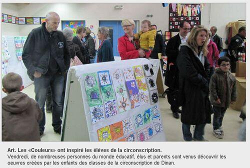 16/05/2012 - Art. Les «Couleurs» ont inspiré les élèves de la circonscription