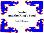 Leçon de nourriture de Daniel et les rois