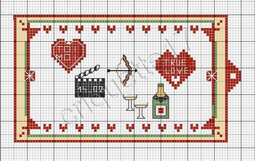 Broderie grille gratuite - St valentin 2014